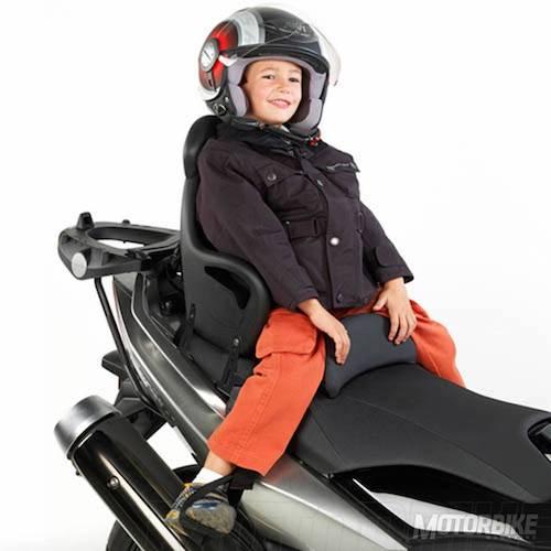 a que edad pueden montar los niños en moto