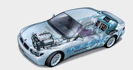 Funcionamiento de un coche de pila de combustible
